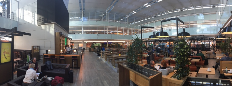 Open and airy Munich Airport (C)Two Queens Travel Blog 2018